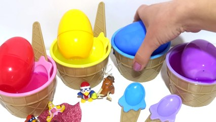 Learn Colors Finger Family Song with Slime Ice Cream Cups Surprise Toys