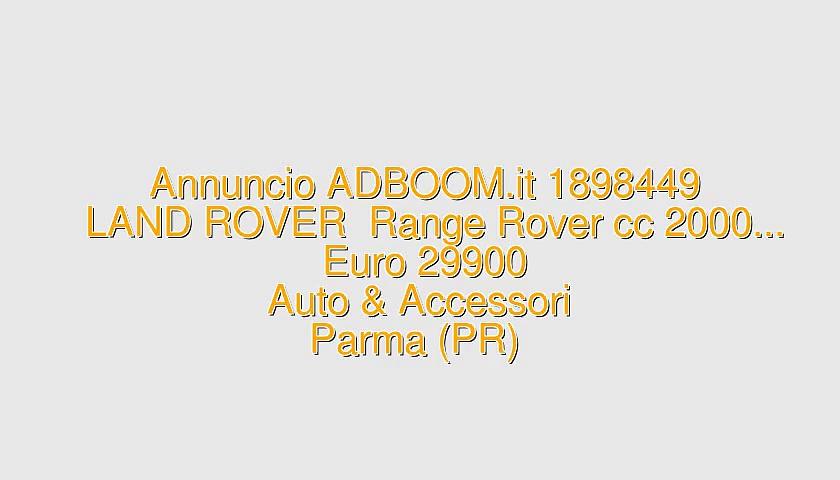 LAND ROVER  Range Rover cc 2000…