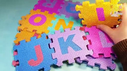 Foam Alphabet & Numbers ABCDE 12345678910 ABC 12345 ABCD English Puzzle Mats for Kids 123