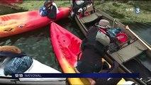 Environnement : l'association Solidex ramasse des déchets dans la Loire à bord de kayaks