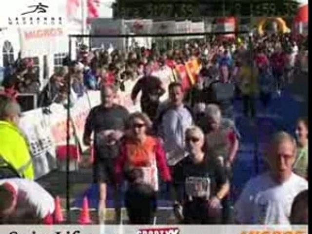 Arrivée du Dossard N°3747 au Semi-Marathon de Lausanne.