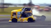 Racing trucks, crashes and collisions