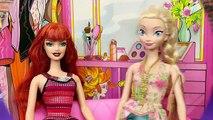 Et à fou poupée gelé va parodie Princesse homme araignée avec Barbie disney elsa barbie fashi