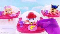 Heure du coucher avec patte patrouille bébé poupées alimentation et toilette faire semblant jouer les meilleures enfants vidéo