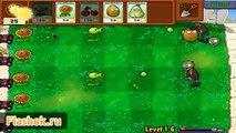 Plantas zombis ► revisión de Zombie juego contra las plantas de flashok ru juego en línea vs