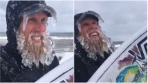 This Is What Happens When You Surf On A Really Cold Day