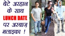 Malaika Arora and Arbaaz Khan on LUNCH DATE with Arhaan; Watch video   FilmiBeat
