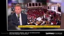 """Zap politique - Nicolas Dupont-Aignan : une loi de moralisation de la vie publique """"de pacotille"""" (vidéo)"""