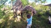 Activité à dinosaure dinosaures la famille amusement amusement géant enfant vie parc taille le le le le la thème Zoo amusement