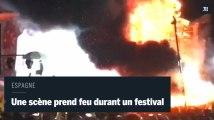 Une scène de concert prend feu durant un festival en Espagne