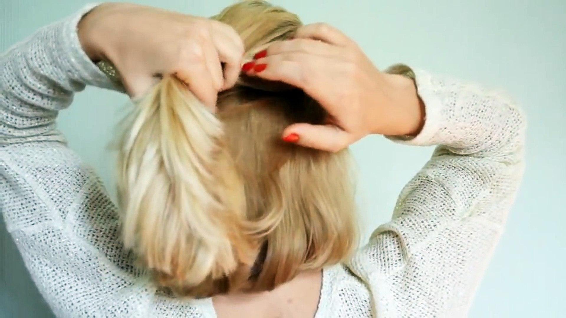Coiffures Faciles Pour Femme Courte De Cheveux