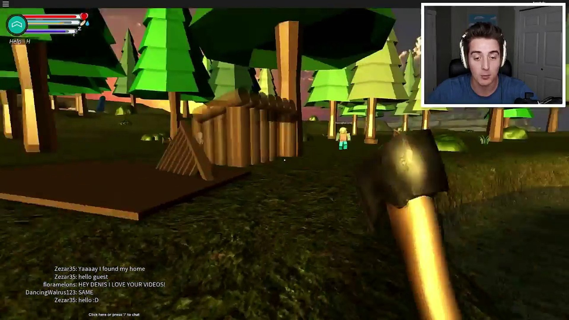 Avatar Denisdaily Roblox Roblox Island Survival Vanosgaming Video Dailymotion