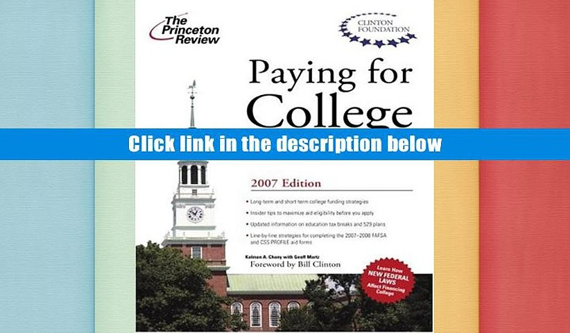Read Online  Paying for College Without Going Broke 2007 (College Admissions Guides) Princeton
