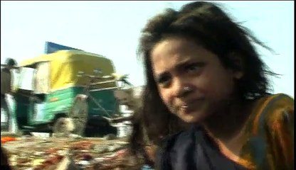 Indian rag picker girl sharing her life on-camera