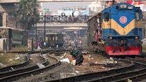 Rajshahi Express Train of Bangladesh Railway Entering Dhaka Railway Station