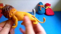 Animaux boîte de par exemple des œufs girafe jouer rhinocéros zèbre Doh jungle lion surprise doh anim