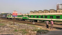 Khulna Bound Sundarban Express Train Departing Dhaka Railway Station