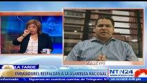 """Luis Florido, diputado opositor venezolano, explicó en el programa La Tarde de NTN24 que """"la Asamblea Nacional va a seguir con su acción y es importante que le quede claro a todos los venezolanos y a la comunidad internacional""""."""