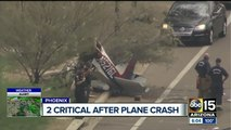 Plane down on roadway after departing from Deer Valley Airport