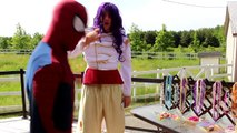 Frozen Elsa JEWELRY SHOPPING! w_ Spiderman Joker Chocolate Candy Challenge Family Fun  In Real Life-44BARd-bE0I