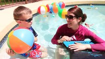 POOL TOYS CHALLENGE!!! Giant Pool filled with Surprise Bath Toys + Ariel Mermaids, TMNT &