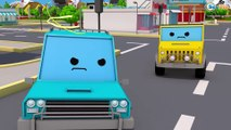 Catching Bad Cars the Race Car - The Police Car on the Road | Police Chase Videos For Children