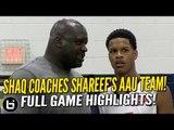Shareef O'Neal Goes OFF w/ Shaq Coaching Him & Cal Supreme vs Brad Beal!! Full Highlights!
