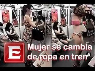 Mujer se desviste en un tren de China