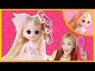 愛麗的櫻桃公主約會前發型裝扮玩具遊戲 | 愛麗和故事 EllieAndStor