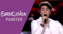 Brendan Murray - Dying To Try (Ireland) 2017 Second Semi-Final - Eurovision Painter