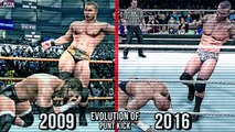 The Evolution Of Randy Orton Punt Kick! ( Smackdown vs Raw 2009 To WWE 2K17 )