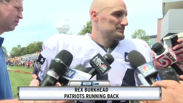 Rex Burkhead On Patriots' Running Attack