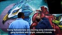 Colorful murals replace gang graffiti in El Salvador