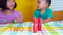 Learn Colors and Numbers with Bowling Pins in Mikos Playhouse