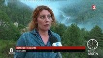 Corse-du-Sud : des randonneurs piégés par un incendie de forêt