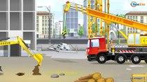 TRACTOR infantiles - Aprende el color Rojo para chicos, Vehículos utilitarios, Automóviles! NUEVO!