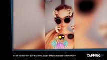 Paris Hilton sexy aux Maldives, elle s'affiche topless sur Snapchat (vidéo)