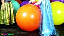 Et ballon charme gelé géant dans vidéos Disney elsa anna pop surprise shopkins num nom