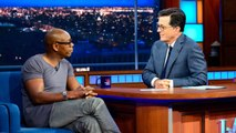 """Dave Chappelle Discusses Donald Trump on 'Late Show': """"He's a Polarizing Dude""""   THR News"""