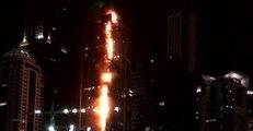Fire Engulfs Dubai Residential Skyscraper