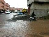 MAROC : Averse sur Marrakech