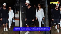 SPOTTED- Shahid Kapoor and Mira Rajput Post Lunch Date in Bandra