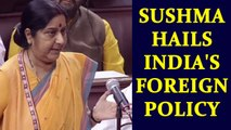 Sushma Swaraj justifies India's foreign policy amid accusations from Opposition | Oneindia News