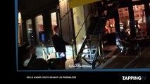 Bella Hadid chute en talons hauts devant des paparazzis (vidéo)