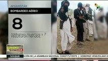 Ataques aéreos dejan al menos ocho talibanes muertos en Afganistán