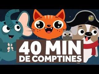 40 Minutes de Comptines pour les Enfants - Au Clair de la Lune - Le Monde des Zibous