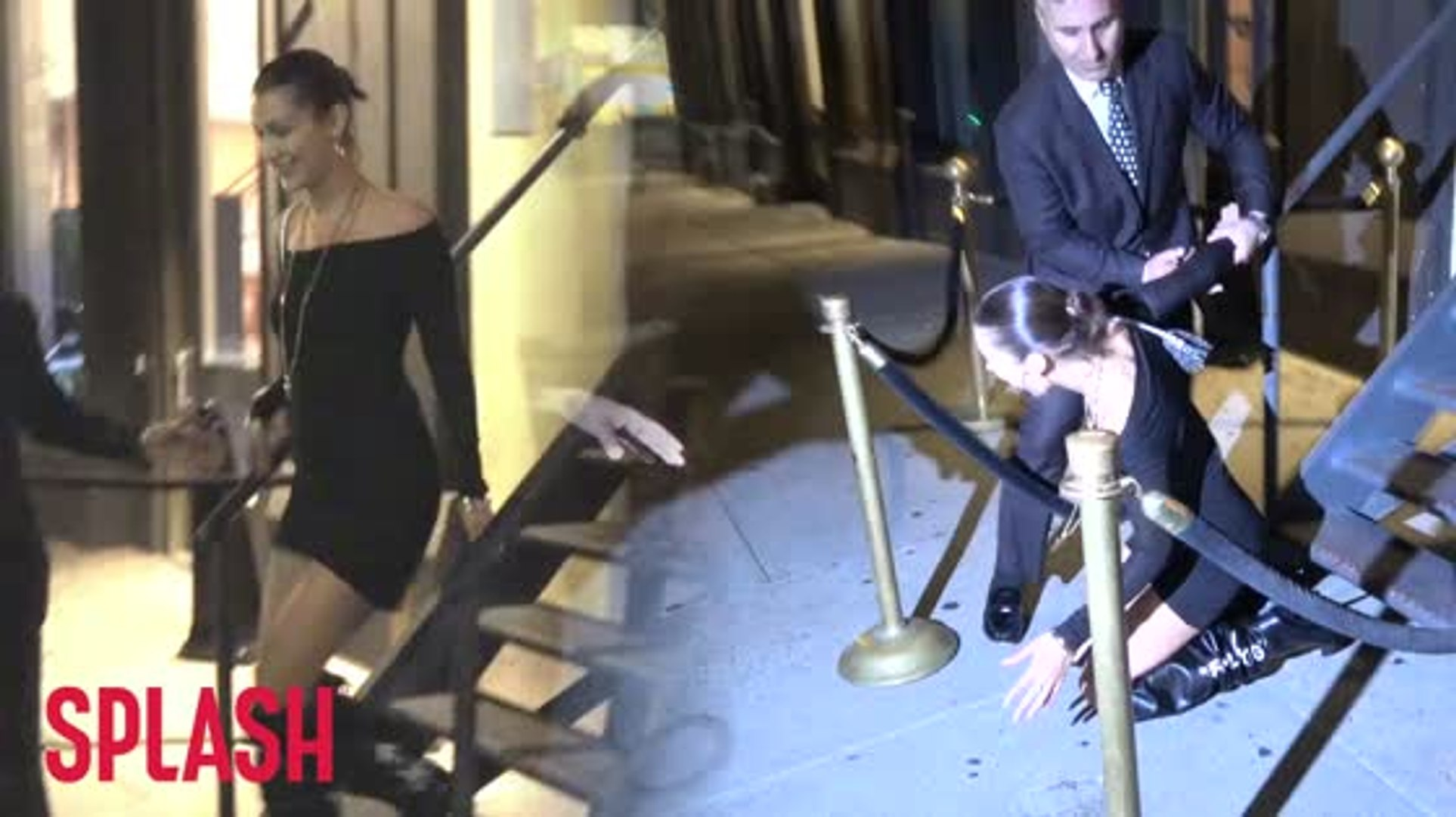 Bella Hadid's Not The Only Celebrity To Trip and Fall On Camera