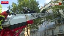 Paris : les pompiers sauvent dix personnes d'un incendie