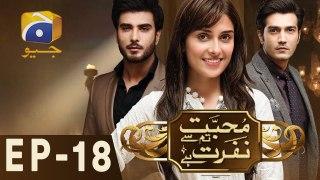 Mohabbat Tum Se Nafrat Hai - Geo  All Episodes