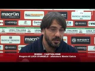 Icaro Sport. Rimini-Castiglione, il prepartita di D'Angelo